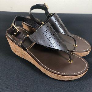 Tory Burch London Wedge Sandals.
